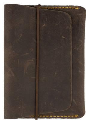 Обложка для паспорта на резиновой застежке из натуральной кожи Black Brier ОП-7-33 коричневый