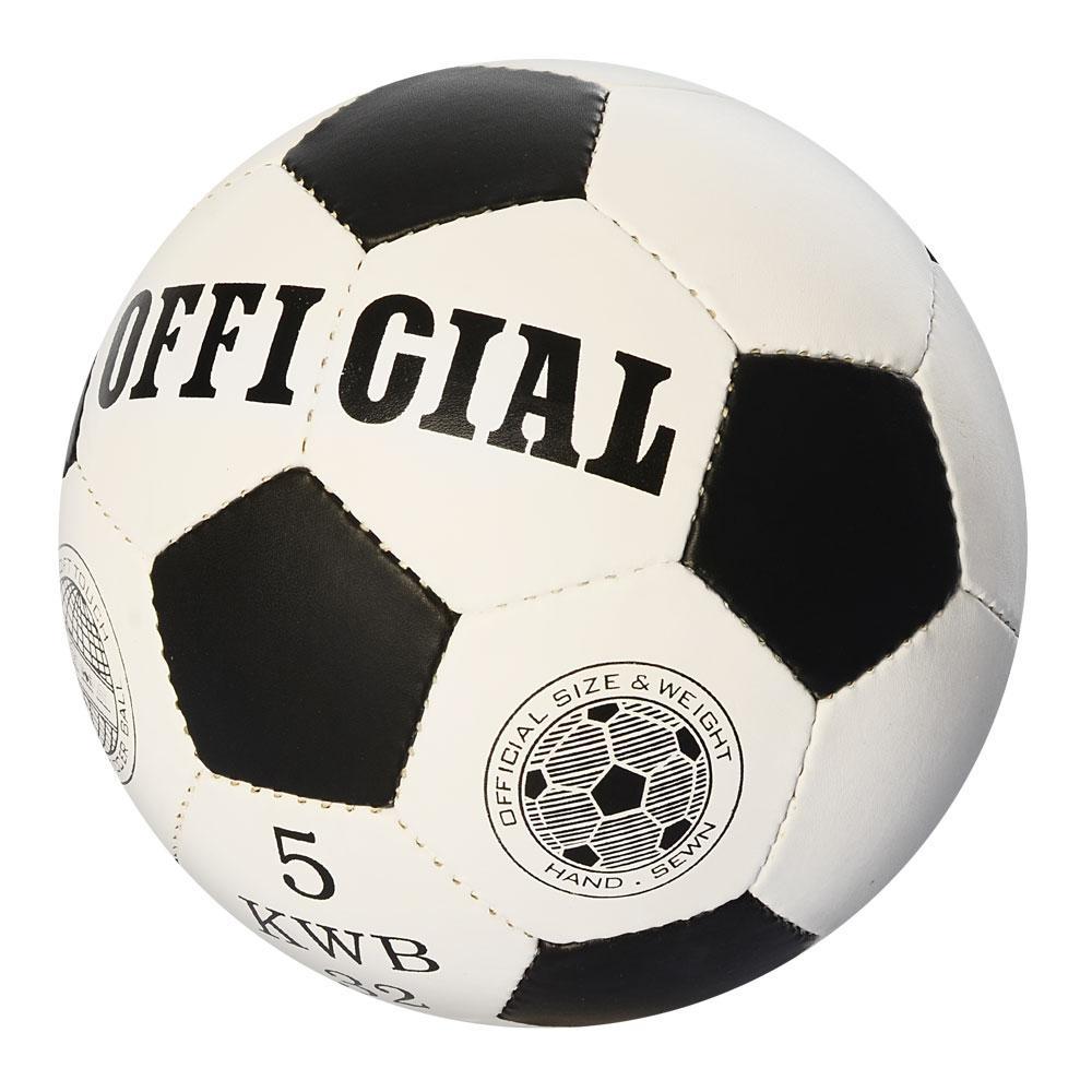"""Детский футбольный мяч """"OFFICIAL"""" Чёрный (2500-202), 5 дюймов"""