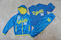 Велюровый спортивный костюм- тройка  2 -4 года
