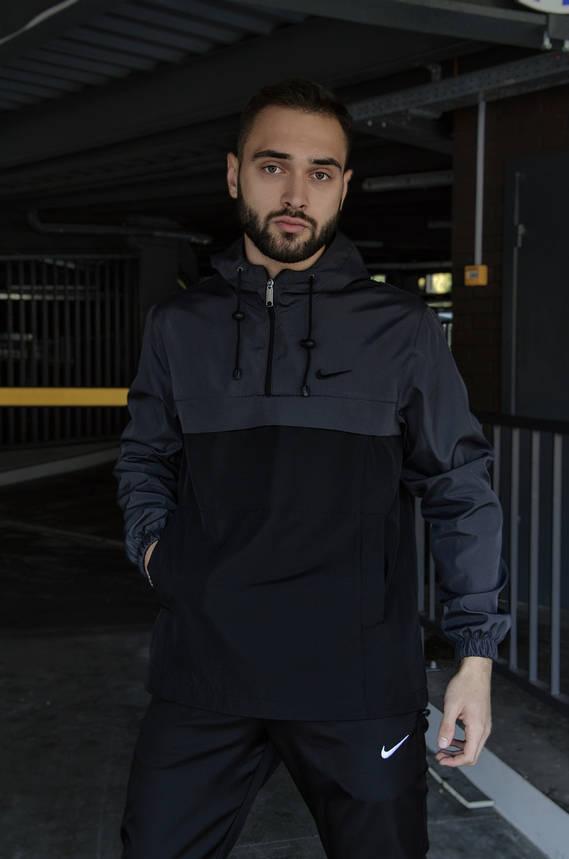 Анорак Nike President Мужской серый Черный найк ветровка, фото 2