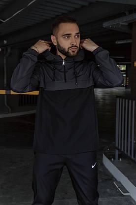 Анорак Nike President Мужской серый Черный найк ветровка, фото 3