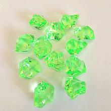 """Декоративный кристалл-бусина """"Искусственный лед"""" , 5 шт, 2 х 2,5 см, цвет салатовый"""