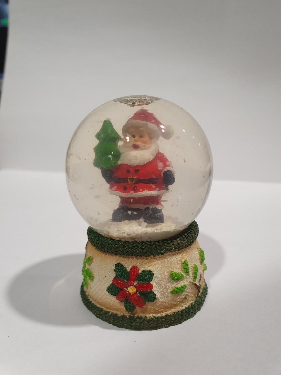 """Новогодний Снежный шарик """"Санта"""""""