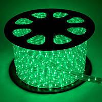 Светодиодный Дюралайт, круглый 13мм, 18 led на 1м, бухта 100 м цвет - зеленый