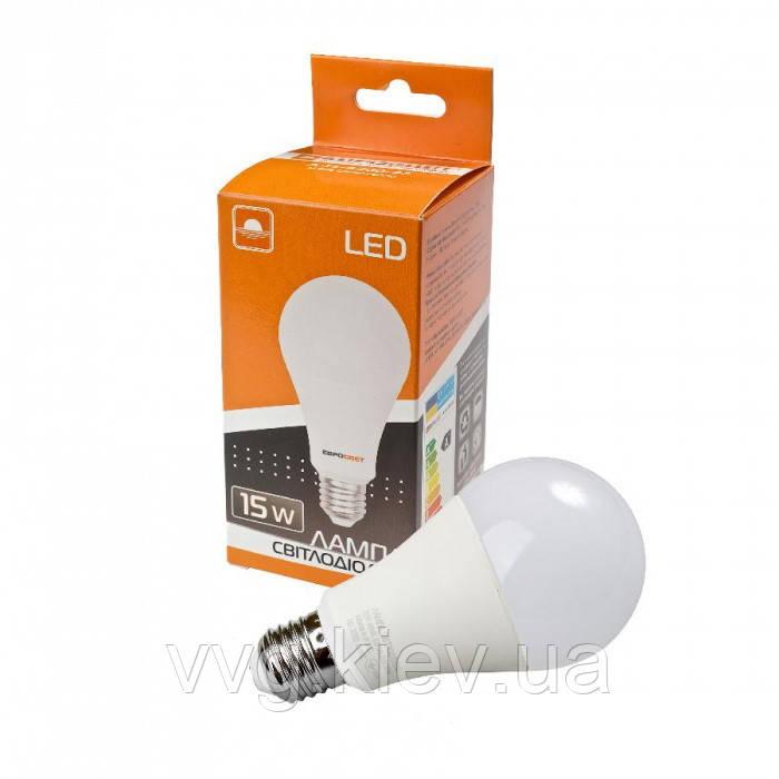 Лампа світлодіодна 15Вт 4200К Е27 (A-15-4200-27), ЕВРОСВЕТ