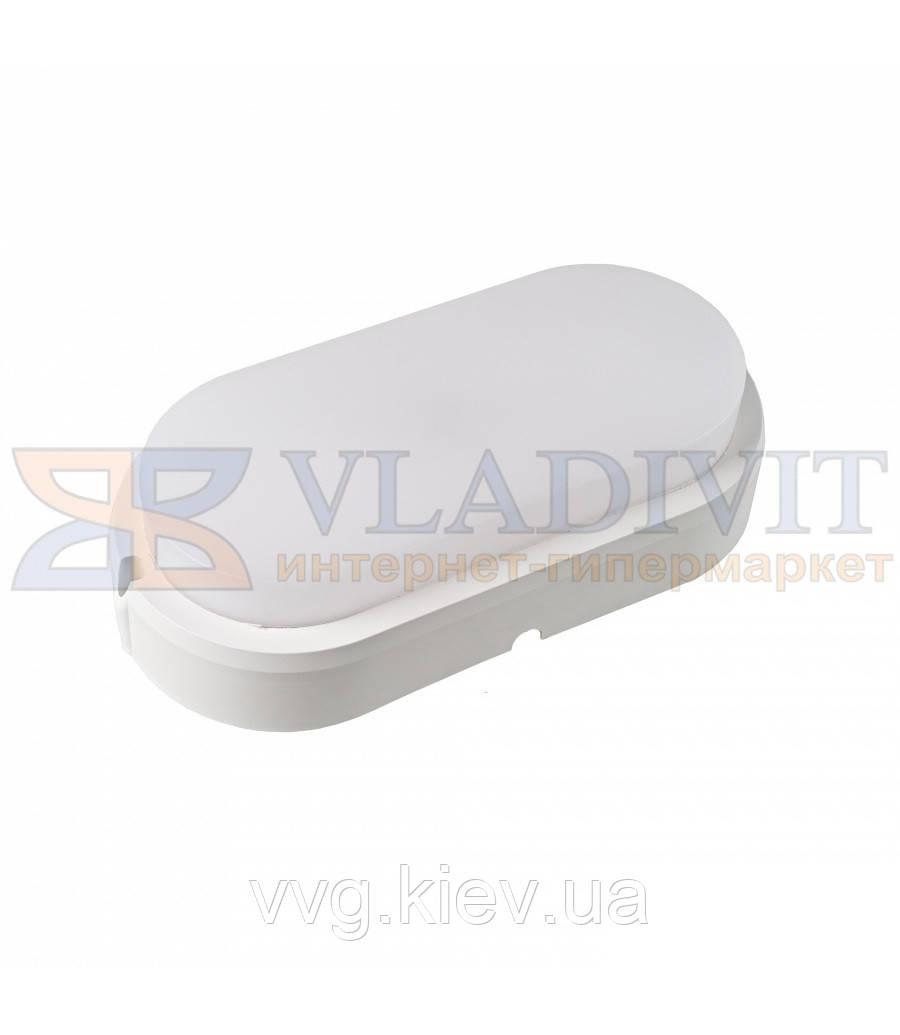 Світильник світлодіодний накладний ЕВРОСВЕТ 15Вт овал CL-303 6400K IP65 для ЖКГ