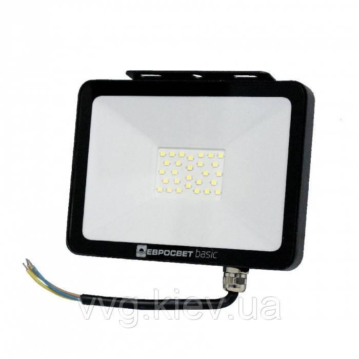 Прожектор світлодіодний 50Вт 6400К 2750Лм (ES-50-504) BASIC-XL, ЕВРОСВЕТ (000040647)