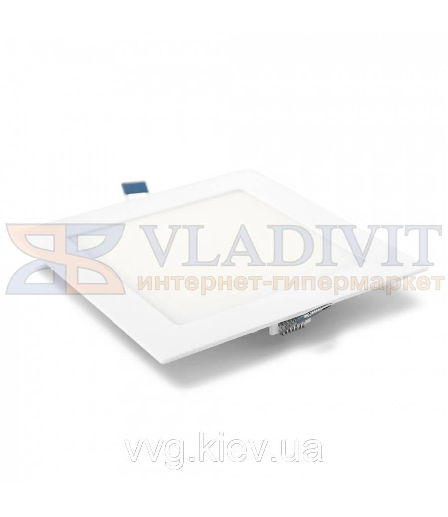 Світильник світлодіодний точковий квадратний врізний LED-S-120-6 6Вт 4200К Downlight