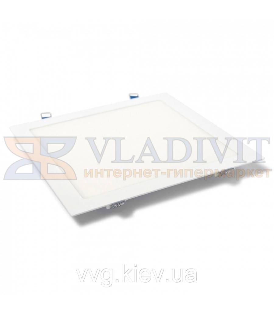 Світильник світлодіодний точковий квадратний врізний LED-S-225-18 18Вт 6400К Downlight