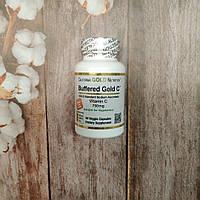 California Gold Nutrition Buffered Gold Vitamin C 60 veg caps 750 mg , буферизированный витамин С, фото 1