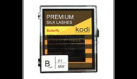 Вії в 0.05 (6 рядів:11/12/13), упаковка butterfly Kodi B