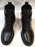 Dolce Gabbana! Женские кожаные зимние ботинки, полуботинки на шнуровке, со змейкой средний каблук. Зима., фото 5
