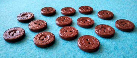 Пуговицы турманиевые (коричневые)