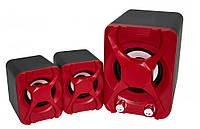 Компьютерная акустика FT-XSD-2 красные, колонки с сабвуфером для компьютера, ноутбука с доставкой, фото 1