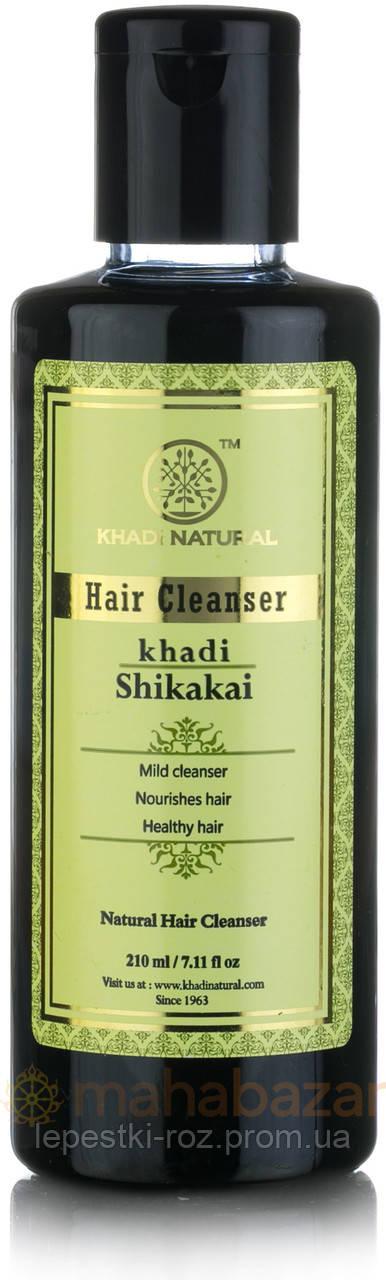 """Шампунь-кондиционер для реконструкции волос  без парабенов """"Шикакай"""" KHADI NATURAL 210мл."""