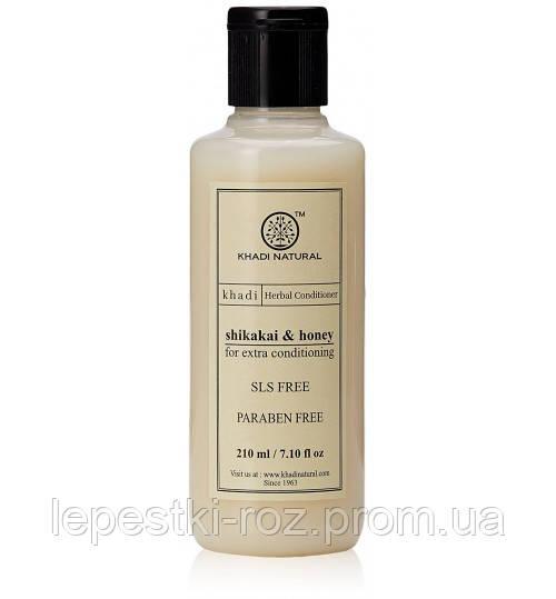 """Натуральный бальзам для полной реконструкции волос """"Шикакай и Мед"""" KHADI NATURAL 210мл."""