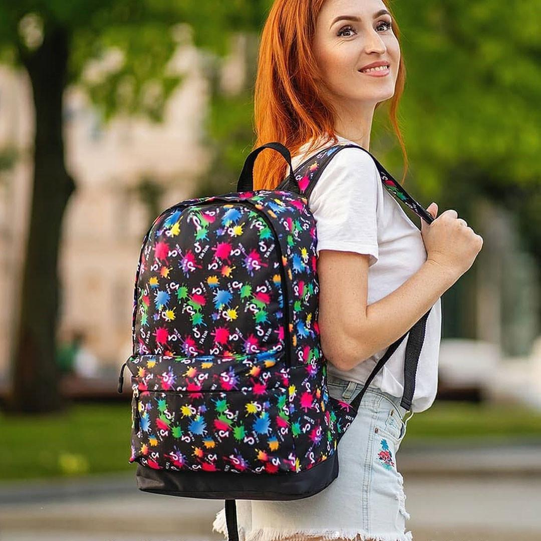 Стильный рюкзак с принтом Tik Tok, тик ток. Для путешествий, тренировок, учебы
