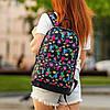 Стильный рюкзак с принтом Tik Tok, тик ток. Для путешествий, тренировок, учебы, фото 5