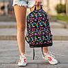 Стильный рюкзак с принтом Tik Tok, тик ток. Для путешествий, тренировок, учебы, фото 6