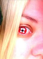 Яркие красные линзы для глаз. Красные линзы с крестиком. Цветные контактные линзы. Красные линзы Крейзи линзы