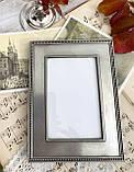 Старая английская фоторамка, рамка для фото, олово, Англия, винтаж, фото 2