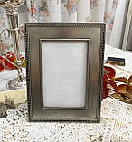 Старая английская фоторамка, рамка для фото, олово, Англия, винтаж, фото 3