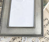 Старая английская фоторамка, рамка для фото, олово, Англия, винтаж, фото 4
