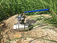 """Кран шаровый нержавеющий 2-х составной с площадкой под привод 1/2"""" Bundor"""