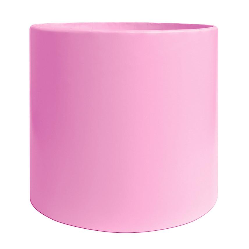 Коробка для цветов без крышки 15 х 15 см светло-розовая