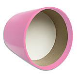 Коробка для цветов без крышки 15 х 15 см светло-розовая, фото 3