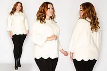 Пальто-пиджак из меха альпаки в руниверсальном размере 46-52.