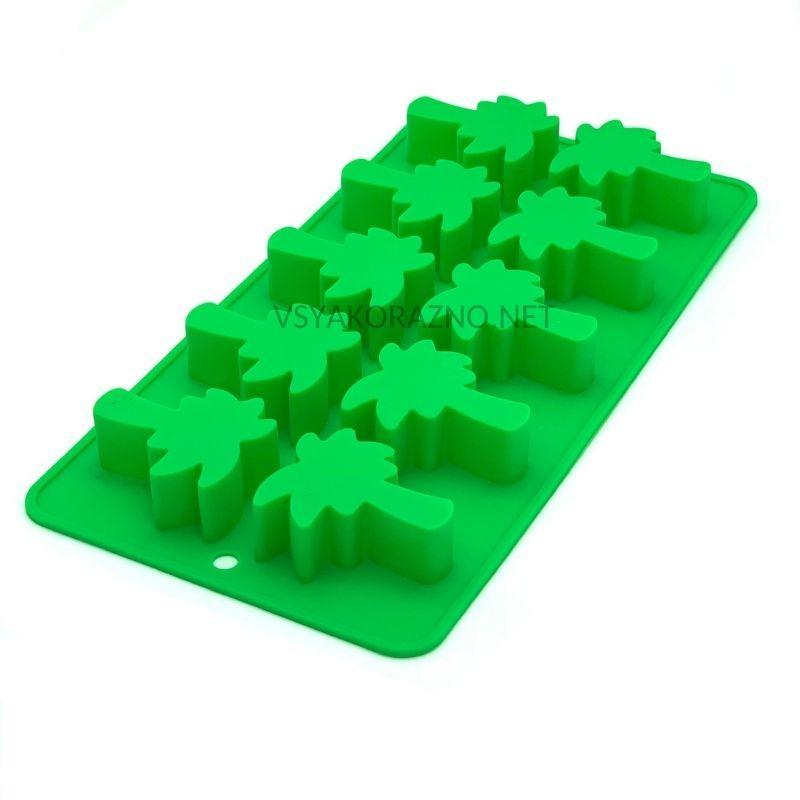 Силиконовая форма для льда и конфет Пальма / Силіконова форма для льоду і цукерок (зеленый)