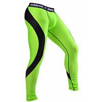 Компрессионные мужские штаны с ракушкой Berserk Sport салатовый