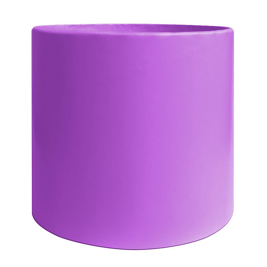 Коробка для цветов без крышки 15 х 15 см сиреневая