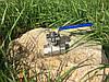 """Кран нержавіючий кульовий 2-х складений з майданчиком під привід 3/2"""" Bundor"""
