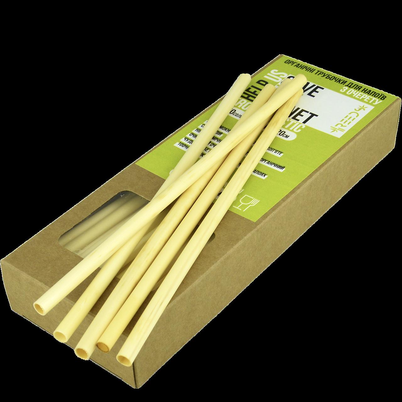 Коктейльные трубочки из тростника (d 3 - 5 mm) уп/50шт