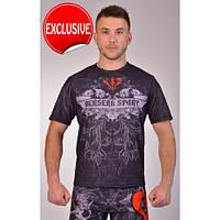 Удобная футболка для фитнеса и борьбы, хлопок Berserk Sport черный