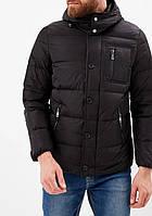 Брендовая мужская куртка пуховик короткий стильный Geox в больших размерах