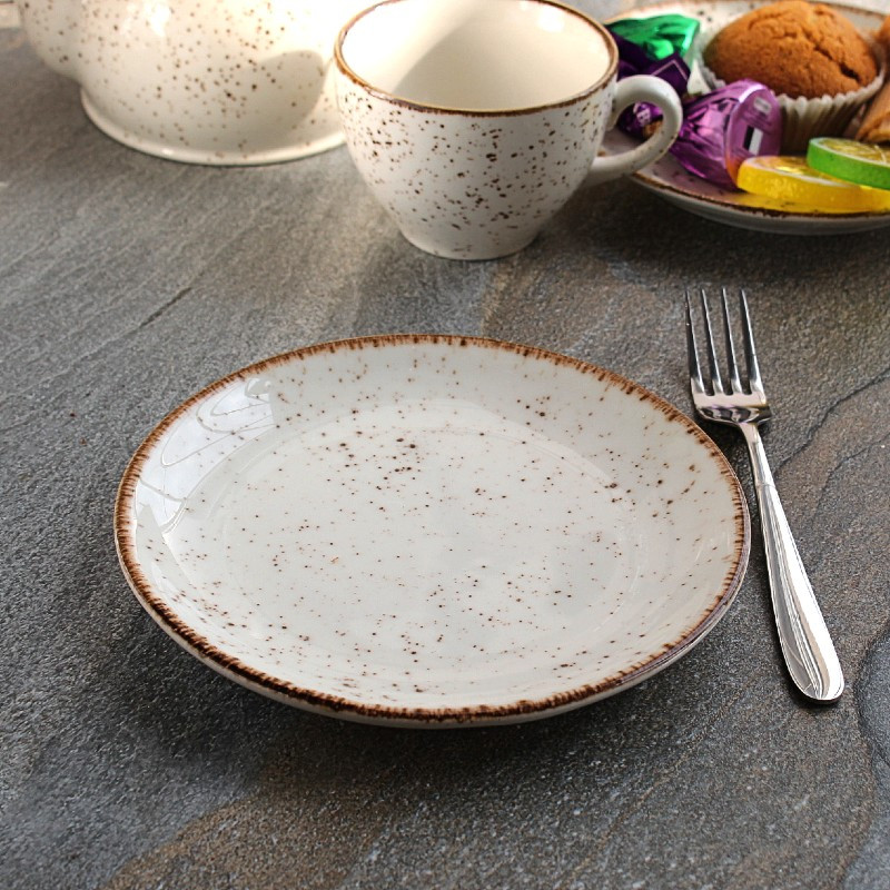 Мелкая пирожковая тарелка из фарфора Kutahya Porselen Atlantis 170 мм (CR3017)