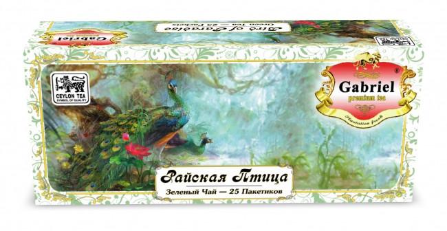 """Чай в пакетиках зеленый Gabriel """"Райская Птица"""" 25п."""