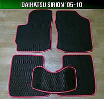 ЄВА килимки Daihatsu Sirion '05-10. Автоковрики EVA Дайхатсу Сирион