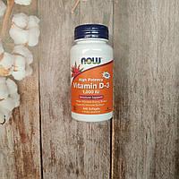 Now Foods Vitamin D-3 1000 IU 360 caps, витамин Д 3 Нау фудс, фото 1