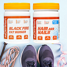 Black Fire Супер фигура + HAIR and NAILS Комплекс для здоровья ногтей и волос