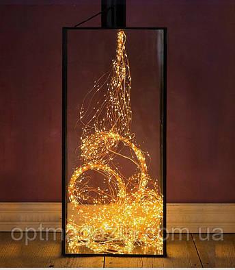 Гирлянда лучи росы или Конский хвост, 2 м, 200 Led,10 нитей, фото 2