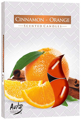 Ароматические свечи таблетки 6шт/уп Bispol №P15-159 Корица-Апельсин, фото 2