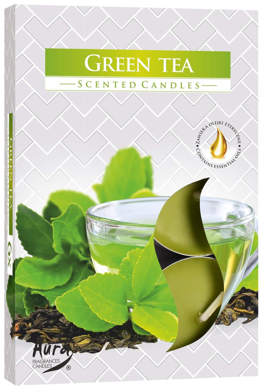 Ароматические свечи таблетки 6шт/уп Bispol №P15-83 Зеленый чай