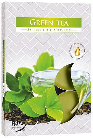 Ароматические свечи таблетки 6шт/уп Bispol №P15-83 Зеленый чай, фото 2