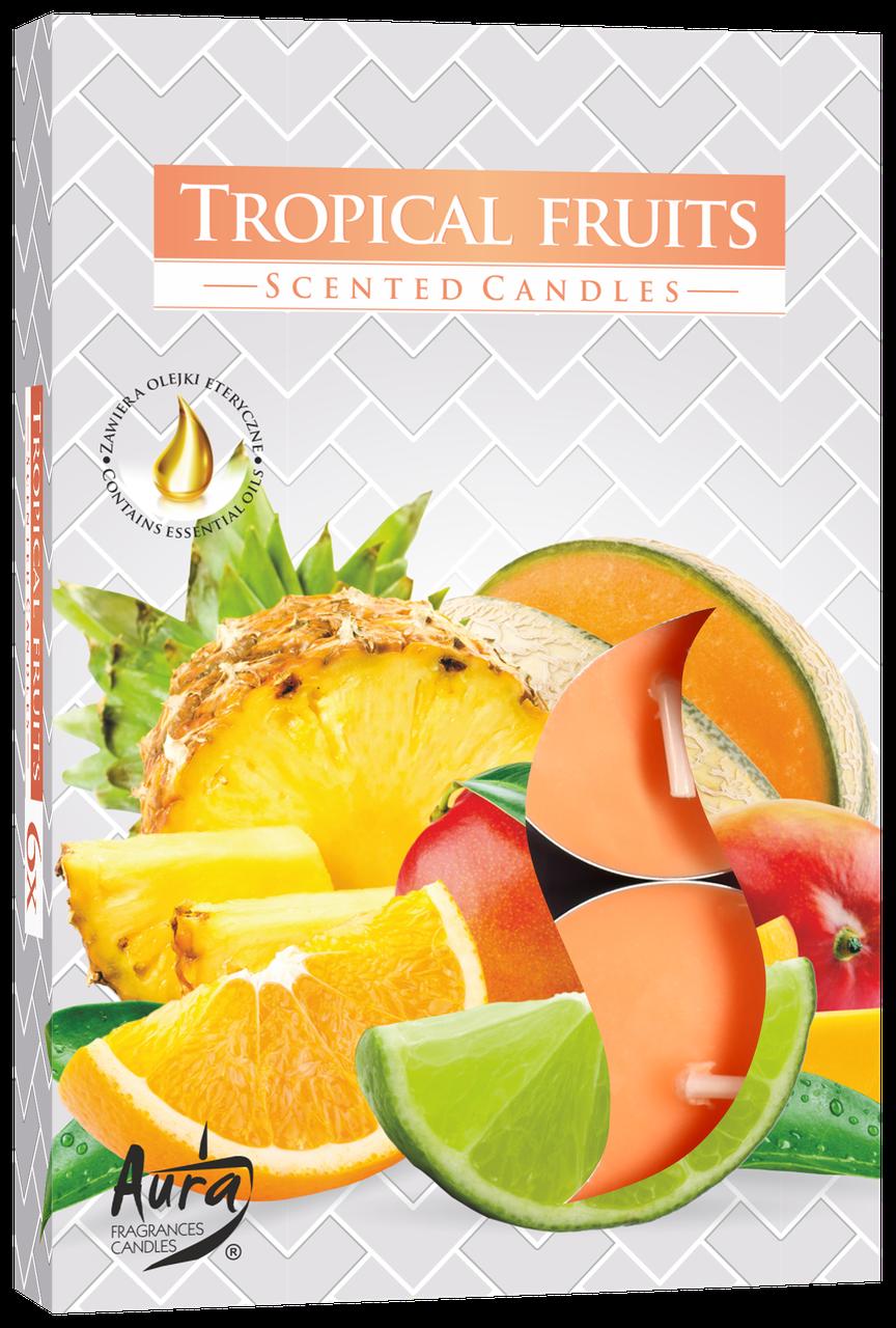 Ароматические свечи таблетки 6шт/уп Bispol №P15-71 Тропические фрукты