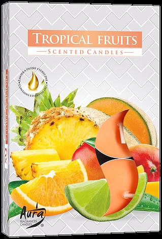 Ароматические свечи таблетки 6шт/уп Bispol №P15-71 Тропические фрукты, фото 2