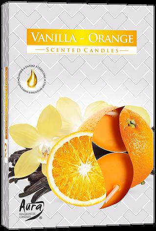 Ароматические свечи таблетки 6шт/уп Bispol №P15-37 Ваниль-Апельсин, фото 2